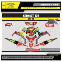 Decal Sticker Motor Yamaha Xeon Gt 125 Fullbody MERAH ROSSI