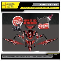 Decal Sticker Motor Yamaha Xeon Gt 125 Fullbody AC MILAN