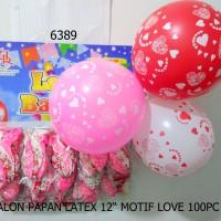 Balon Papan Latex 12 Motif Love