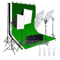 Paket Lighting Studio dengan tiang background/ stand background