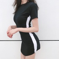Contrast Side Bodycon Dress