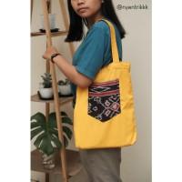 Yellow Ethnic Totebag
