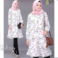 Baju Atasan Monalisa Sunrise White Tunik Blouse Muslim