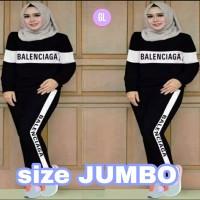 JUMBO stelan olahraga balenci/baju senam muslim/baju olahraga muslim