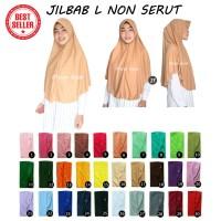 Jilbab Instan Non Serut Anak Sekolah Atau Dewasa Bahan Kaos Murah