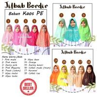 Jilbab Instan bordir anak sekolah serut bahan Kaos