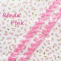 Renda Model 3 Gelombang Pink (Merah Muda)