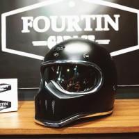 Helm Custom Simpson M30 Skull with inner Chrome visor