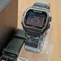 Jam Tangan Pria Ripcurl Digital Rantai Black Layar Black Premium
