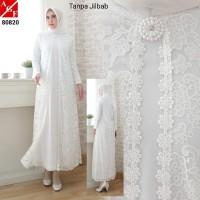Baju Gamis Putih / Busana Muslim / Baju Muslim #80820 STD
