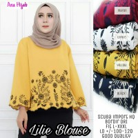 Lilie blouse. Atasan wanita. Blouse cantik by Ana hijab