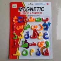 Mainan magnetic huruf arab hijaiyah magnet edukatif anak