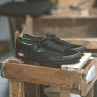 Sepatu Vans Slip On Classic Cut and Paste Full Black Original 100%