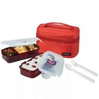LockLock Lunch Box 2P set bag spoon and fork MURAH locknlock