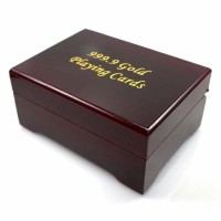 New Kartu Remi Emas Gold Poker card with original wooden Box certified