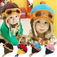 New Topi pilot hat kupluk bayi baby anak kids balita toddler beanie