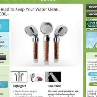 Best Seller Ion Shower Filter Terapi Ionic Shower Head Mandi Natural