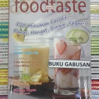 Best Product Buku Food And Taste 120 Minuman Favorit Ori Wr Promo