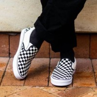 Sepatu Pria / Sepatu Vans Slip On Checker Board Premium Quality