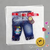 Celana 1-2thn* jeans anak balita bayi cewek fashion perempuan motif