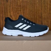 Sepatu Adidas Neo Running Men Sport Casual Sneakers Pria Biru Navy