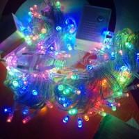 LAMPU LED RAINBOW HIAS DEKOR NATAL KELAP KELIP WARNA 10 M ANTI AIR