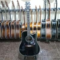 gitar akustik elektrik yamaha aswood