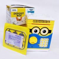 Celengan ATM Deposit Box Bank Brankas Minion DoEmon Mainan Anak 66068