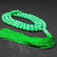 Termurah Tasbih Batu Natural Green Jade Giok 99 Butir Original