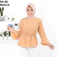 fashion baju blouse atasan yellow