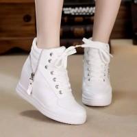 Sepatu Boots Wedges Wanita Sepatu Kets Kasual Putih Wanita Anak Cewek