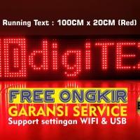 Running Text 100 x 20 FULL Outdoor Merah (Tahan Air) GARANSI