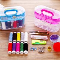 Alat jahit set peralatan BENANG JARUM lengkap Sewing box
