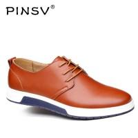 Sepatu Pinsv Kulit Split Sepatu Pria Sneakers Hitam Desainer Sepatu