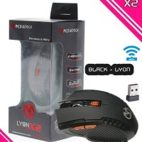 Mediatech Wireless Mouse Gaming LYON X2 - Hitam