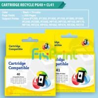 Cartridge Tinta Recycle Canon PG40 CL41 Refill 40 41 Printer MX308 318