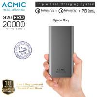 ACMIC S20PRO 20000mAh Power Bank Quick Charge 3.0 + PD