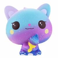 squishy rainbow cute kitty ice cream