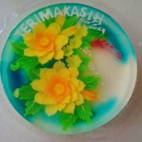 puding jelly art round