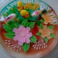 puding jelly art kolam ikan