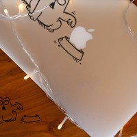 Decal Sticker Macbook Stiker Simon's Cat Apple Kucing Lucu Cat Laptop
