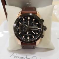jam tangan pria alexander cristie original ac6270 black rose gold