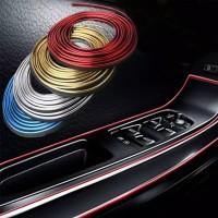 Dekorasi Lis Trim Interior List Dashboard Mobil - Biru