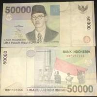 UANG KUNO UANG MAHAR Rp. 50000 WR Supratman 1999 VF