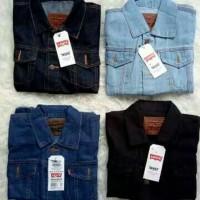 Trucker Jacket jaket Jeans Denim Pria Premium Send Wash big size jumbo