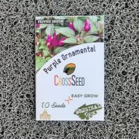 Cross Seed Purple Ornamental Benih Cabe Hias Rainbow Pelangi Import