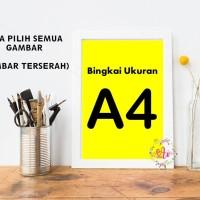 Home Decor Poster A4 + Bingkai - Dekorasi (Bisa Pilih Semua Gambar)