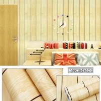 KAYU PAPAN PARKIT Wallpaper Dinding 10M x 45Cm