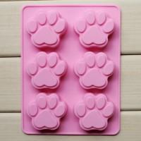 Cetakan Silikon Motif Tapak Kaki Kucing 6 Silicone Mold Jelly Coklat