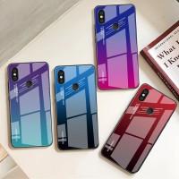 Gradient Glass Case Xiaomi Pocophone F1 Redmi 6 Pro MiA2 Lite Casing